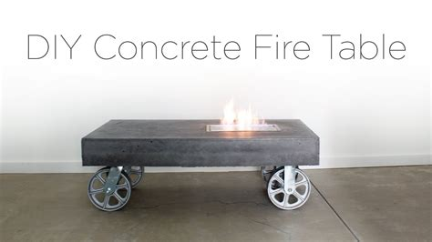 concrete coffee table diy diy concrete firetable youtube