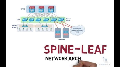 spine  leaf network architecture explained ccna   youtube