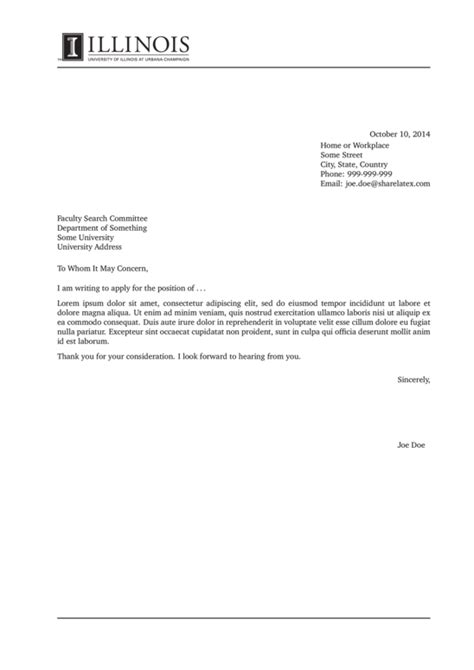 cover letter format latex gallery cover letter