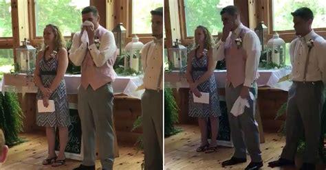 Groom Loses It Watching Bride Walk Down The Aisle To Dan