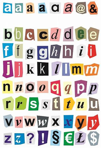 Letters Alphabet Cut Printable Collage Paper Writing