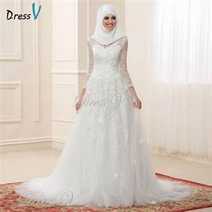Aliexpresscom buy 2017 muslim wedding dresses lace long for Muslim wedding dresses 2017