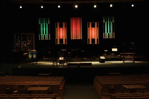 white strips church stage design ideas