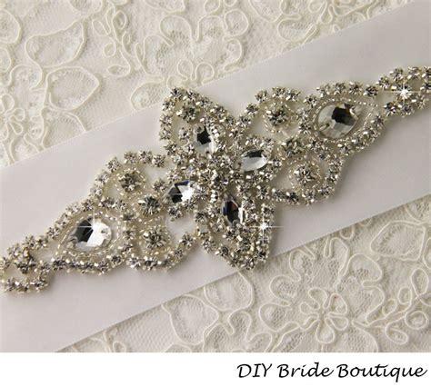 crystal applique rose gold rhinestone applique wedding