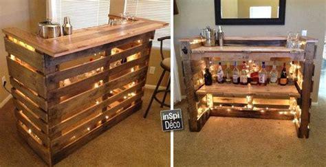 mini bar en bois de palettes voici  idees pour vous