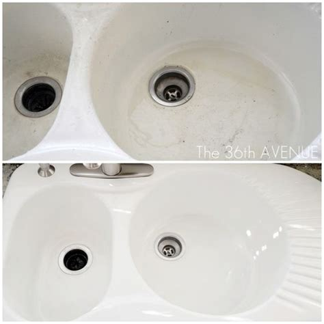 how to clean white porcelain kitchen sink how to clean a porcelain sink stains kitchen sinks and bar 9363