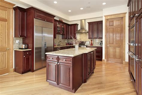 dark cherry wood kitchen cabinets 43 quot new and spacious quot darker wood kitchen designs layouts