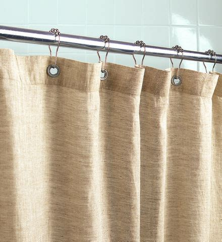 Organic Linen Shower Curtain  Traditional Shower