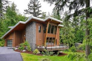 Modern Green House Plans by Impressive Modern Cottage At The Base Of Squak Mountain