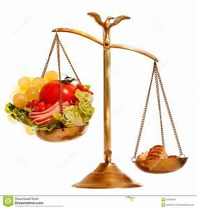 Balance With Healthy Vs Heavy Food Stock Image - Image of ...