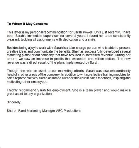 job recommendation letters  word  google