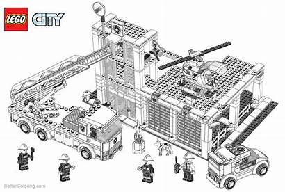 Lego Coloring Construction Pages Building Printable Adults