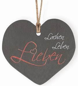 Lieben Leben Lachen : schieferplakette lachen leben lieben ~ Orissabook.com Haus und Dekorationen