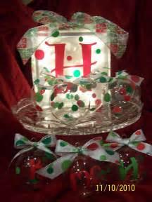 studio 5380 christmas glass block and ornaments