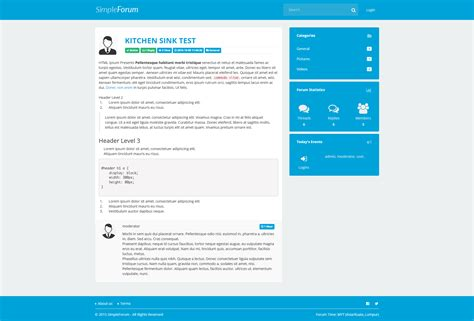 bootstrap kitchen sink simple forum responsive bulletin board by tecdiary 1762