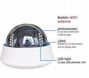 Dome P2P Wireless IP Camera with IR Night Vision Support Micro Card