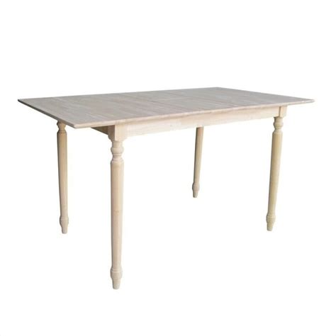 unfinished counter height table international concepts unfinished turned leg counter