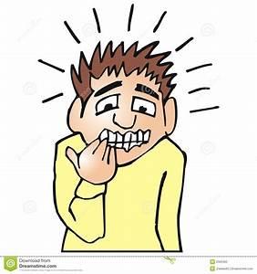 Nervous man stock vector. Image of cartoon, symbol ...