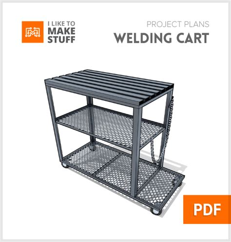 steel welding table plans welding cart table digital plan i like to make stuff