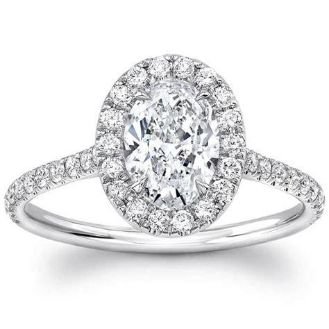 1 40ctw oval cut diamond engagement ring platinum costco uk
