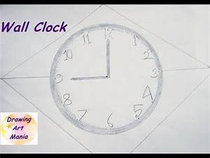 How To Draw Easily Awesome Wall Clock With Pencil Step By ...