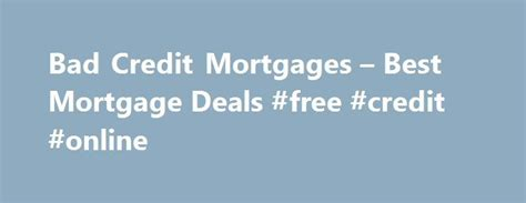 20+ Best Ideas About Mortgage Deals On Pinterest
