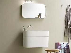 Vasque En Corian : meuble sous vasque en corian avec tiroirs collection ~ Premium-room.com Idées de Décoration