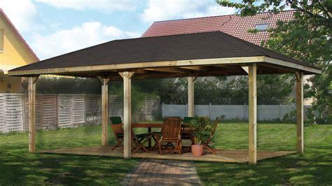 Weka Pavillon  Carport Gartenoase 651d Gr2 Kdi 678x380cm