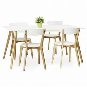 Chaise En Bois Blanc : chaise design style scandinave scandi en bois blanc ~ Teatrodelosmanantiales.com Idées de Décoration