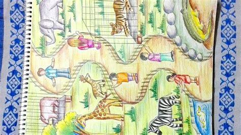draw zoo step  step drawing  zoo animals