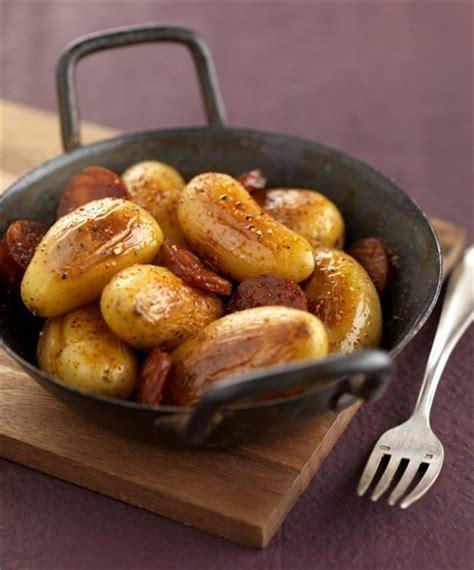 cocotte de pommes de terre grenailles fondantes au chorizo