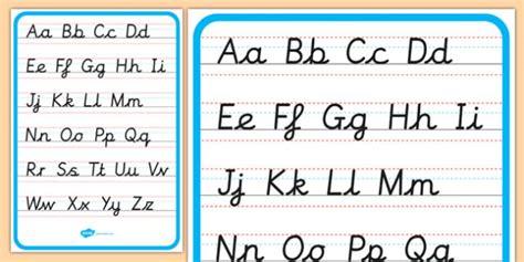 cursive alphabet letter formation poster upper   case