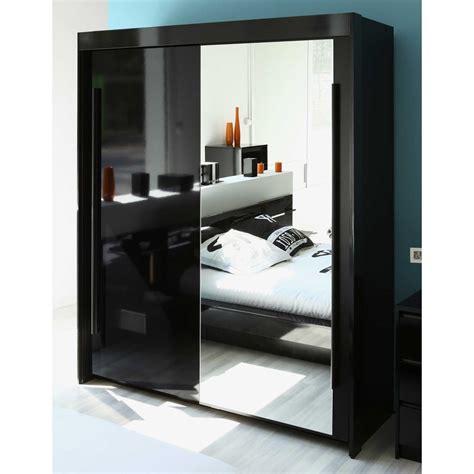 armoire chambre avec miroir armoire 2 portes coulisantes avec miroir l184xp61xh217cm