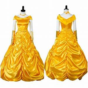 2017 la belle et la bete robe de bal cosplay costume With robe de la belle et la bete adulte