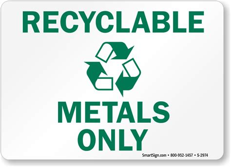 Recycle Aluminum Cans Signs & Labels