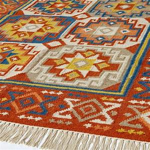 tapis ferlichi style kilim laine the blog deco With tapis kilim turquie