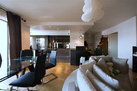cuisine appartement parisien skconcept aménagement d 39 une cuisine ouverte avec îlot