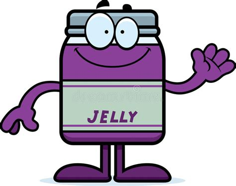 Cartoon Jelly Jar Waving Stock Vector Illustration Of