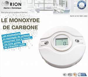 Détecteur De Fumée Monoxyde De Carbone : d tecteur de monoxyde de carbone sans fil orion ~ Edinachiropracticcenter.com Idées de Décoration