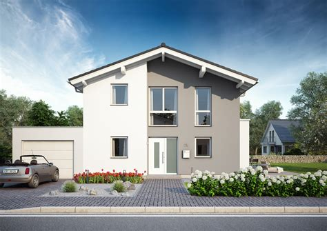Haus Bauen by Familienhaus Vero Satteldach Mit Flacher Dachneigung