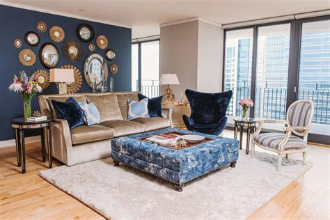 Taupe And Blue Living Room Ideas by Traditional Condo With Modern Day Style Suzann Kletzien