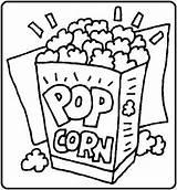Popcorn Kleurplaten Pop Tekening Lekker Coloring Zakken Gratis Tekeningen Bezoeken Afkomstig sketch template