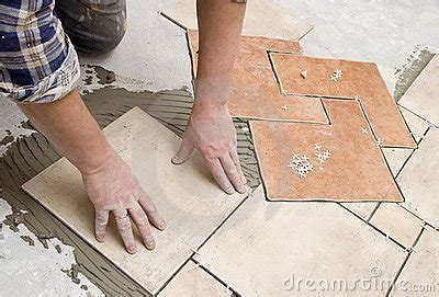 Floor Tiles Installation Royalty Free Stock Image   Image