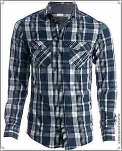 chemise homme casual a carreaux bleu marine grandes With chemise bleu a carreaux