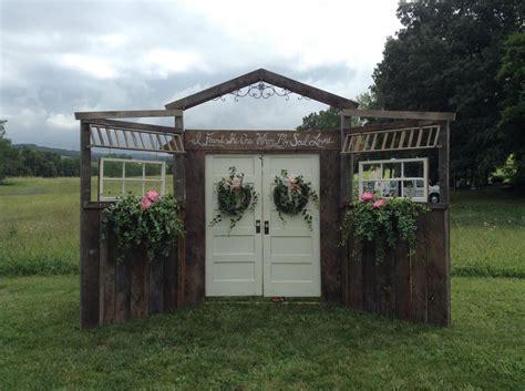 Rustic Barn Wood Wedding Doorsvintagerent Flowers By