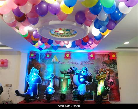 decoration birthday kung fu panda themed birthday decoration at sozhia