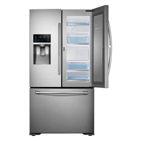 Samsung Cabinet Depth Refrigerator Door by Samsung Rf23htedbsr 23 Cu Ft Counter Depth Door