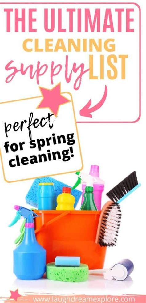 the only cleaning supply list you need in 2020 cleaning