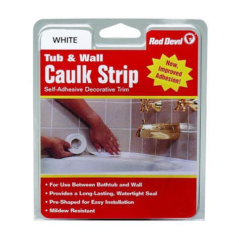 Red Devil 0151 Wide White Tub & Wall Caulk Strip 158