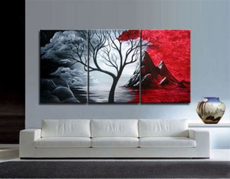 3pieces Modern Abstract Huge Wall Art Oil Painting On